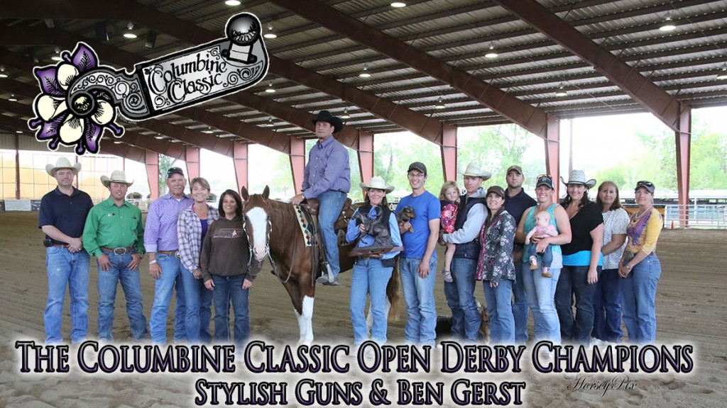 2014 Columbine Classic Open Level 4 ChampionsStylish Guns (Gunner x BH Top Gun) and with Ben Gerst Riding